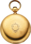 Timepieces:Pocket (pre 1900) , E. Howard & Co. Heavy 18k Gold Series IV, N Size. ...