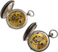 Timepieces:Pocket (pre 1900) , Two Waltham Dennison Howard & Davis, No. 1832, 2439. ... (Total: 2 Items)