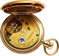 Timepieces:Pocket (pre 1900) , Waltham Amn. Watch Co. 18k Gold Model 68 Marked Made For Howard Bros. New York. ...
