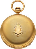 Timepieces:Pocket (pre 1900) , Charles D.P. Gibson Boston Mass. 18k Gold Key Wind. ...