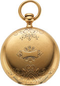 Timepieces:Pocket (pre 1900) , Elgin H.L. Culver No. 1678 Early 18k Gold Cased Key Wind. ...