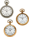 Timepieces:Pocket (pre 1900) , Ball, Three Railroad Inspector's 17 Jewel Official Standards, J. R. Reed & Co. Pittsburgh, Frank Hammond Buffalo N.Y., F.F. Bo... (Total: 3 Items)
