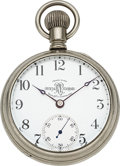 "Timepieces:Pocket (pre 1900) , Ball Unique 18 Size ""17 Rubies"" Official RR Standard, With Numeral 6. ..."