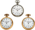 Timepieces:Pocket (pre 1900) , Ball, Three Railroad Inspector's 17 Jewels Official Standards, W.B Wilcox Utica N.Y., Michie Bros. Cincinnati O., Marcy & Co. ... (Total: 3 Items)