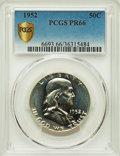 Proof Franklin Half Dollars, 1952 50C PR66 PCGS Secure. PCGS Population: (868/219). NGC Census: (1110/728). CDN: $200 Whsle. Bid for problem-free NGC/PC...