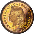 Proof Four Dollar Gold Pieces, 1879 $4 Flowing Hair, Judd-1635, Pollock-1833, JD-1, R.3, PR64 DeepCameo PCGS. CAC....