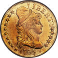 Early Half Eagles, 1795 $5 Small Eagle MS61 PCGS. CAC. BD-3, High R.3....