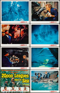 "20,000 Leagues Under the Sea (Buena Vista, R-1963) Overall: Very Fine+. Title Lobby Card & Lobby Cards (7) (11""..."