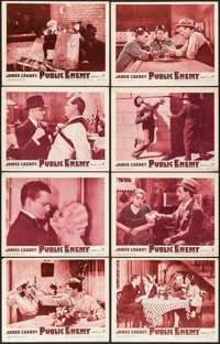 """The Public Enemy (Warner Brothers, R-1954) Fine/Very Fine. Lobby Card Set of 8 (11"""" X 14""""). Crime. From the Co..."""