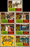"""Movie Posters:Western, Fort Apache (RKO, 1948) Overall: Fine/Very Fine. Title Lobby Card & Lobby Cards (6) (11"""" X 14""""). Western.... (Total: 7 Items)"""