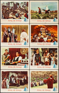 """Movie Posters:Drama, King of Kings (MGM, 1961) Very Fine-. Lobby Card Set of 8 & Lobby Cards (6) (11"""" X 14""""). Historical Drama.... (Total: 14 Items)"""