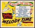 """Movie Posters:Animation, Melody Time (RKO, 1948) Very Fine+. Title Lobby Card (11"""" X 14""""). Animation...."""