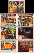 "Prince of Foxes (20th Century Fox, 1949) Very Fine-. Title Lobby Card & Lobby Cards (6) (11"" X 14""). Adven..."