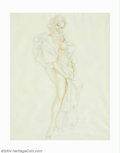 Original Illustration Art:Pin-up and Glamour Art, Alberto Vargas (1896-1982) Original Preliminary Illustration(c.1966).. Fully finished final study by Vargas of Playboy play...(Total: 5 items Item)
