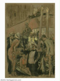 Original Illustration Art:Mainstream Illustration, George Hand Wright (1873-1951) Original Magazine Story Illustration(1915-1920).. Mixed media on paper, framed (24 x 18.5), ...