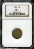 Indian Cents: , 1861 1C MS61 NGC....