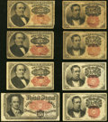 Fractional Currency:Fifth Issue, An Offering of Eight Circulated Fractional Notes. Very Good orBetter.. ... (Total: 8 notes)