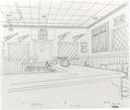 Animation Art:Production Drawing, The Simpsons - Background Drawing Original Art, Group of 3 (Fox,1999-2000).... (Total: 5)