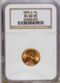 Lincoln Cents: , 1958-D 1C MS66 Red NGC. NGC Census: (2787/148). PCGS Population(1924/62). Mintage: 800,953,280. Numismedia Wsl. Price: $20...