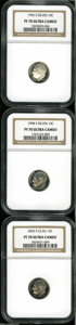 Proof Roosevelt Dimes: , 1996-S 10C Silver PR70 Ultra Cameo NGC,... (3 Coins)