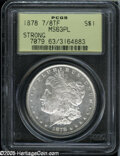 Morgan Dollars: , 1878 7/8TF S$1 Strong MS63 Prooflike PCGS....