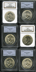 Eisenhower Dollars: , 1972-S S$1 Silver MS67 PCGS,... (6 Coins)