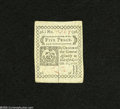 Colonial Notes:Connecticut, Connecticut October 11, 1777 5d Gem New....