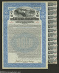 Stocks and Bonds:Railroad Certificates, Cleveland, Cincinnati, Chicago and St. Louis Railway Company $1000 Bond Extremely Fine....