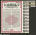 Stocks and Bonds:Railroad Certificates, The Connecting Railway Company - $1000 Bond...