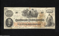 Confederate Notes:1862 Issues, T41 $100 1862....