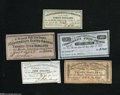 Confederate Notes:Group Lots, Five Different Confederate Bond Coupons.... (5 items)
