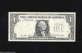 Error Notes:Missing Third Printing, Fr. 1909-B $1 1977 Federal Reserve Note. Extremely Fine....