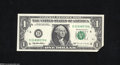 Error Notes:Foldovers, Fr. 1921-D $1 1995 Federal Reserve Note. Gem Crisp Uncirculated....