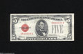 Small Size:Legal Tender Notes, Fr. 1530 $5 1928E Legal Tender Note Mule with BP #637. About New....