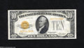 Small Size:Gold Certificates, Fr. 2400 $10 1928 Gold Certificate. Choice About New....