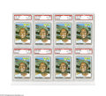 Baseball Cards:Lots, 1970 Topps Curt Flood #360 PSA NM-MT 8 Lot of 8....