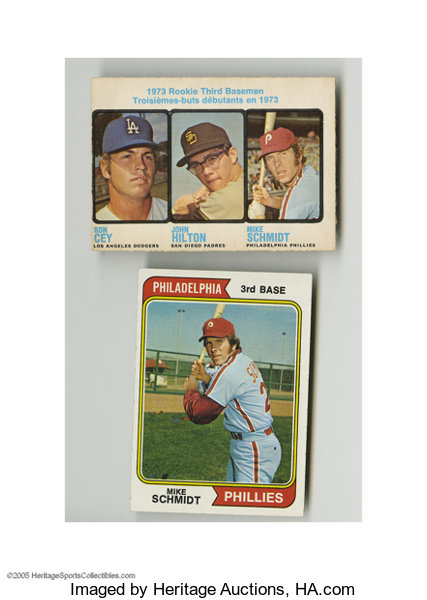1973 74 Mike Schmidt Card Lot Of 2 Baseball Cards Lots