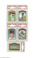 Baseball Cards:Lots, 1972 Topps Baseball Complete Set with PSA-Graded Stars....