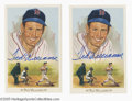 Autographs:Post Cards, Ted Williams Signed Perez-Steele Lot of 2....