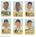Autographs:Post Cards, Hall of Famers Signed Perez-Steele Lot of 6....