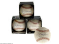 Autographs:Baseballs, Joe DiMaggio Single Signed Baseball Lot of 4.... (3 items)