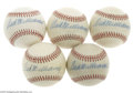 Autographs:Baseballs, Ted Williams Single Signed Baseballs Lot of 5....