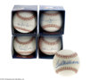 Autographs:Baseballs, 500 Home Run Club Single Signed Baseballs Lot of 5....