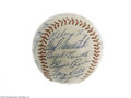 Autographs:Baseballs, 1955 Chicago White Sox Team Signed Baseball....