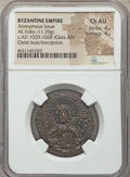 Ancients:Byzantine, Ancients: Anonymous. Class A3. Time of Basil II-Constantine VIII(ca. AD 1020-1028). AE follis (28mm, 11.35 gm, 6h). NGC Choice AU4/5 -...