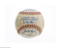 Autographs:Baseballs, 1983 Oakland Athletics Team Signed Baseball....