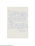 Autographs:Letters, Monte Irvin Handwritten Letter Re: Aaron's 715th Home Run....
