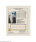 "Autographs:Photos, Mickey Mantle Signed ""Stat Sheet.""..."