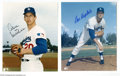 Autographs:Photos, Los Angeles Dodgers Signed Photograph Lot of 3....