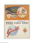 Autographs:Others, 1951 World Series Program Signed by McDougald....